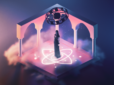 Yennefer in Arethusa yennefer witcher fanart lowpolyart diorama low poly isometric lowpoly render blender illustration 3d