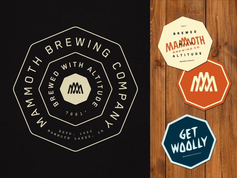 Mammoth Brewing Co. Coasters identity california brewery branding beer typography