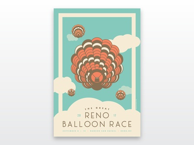 The Great Reno Balloon Race Poster 2017 [RETRO]