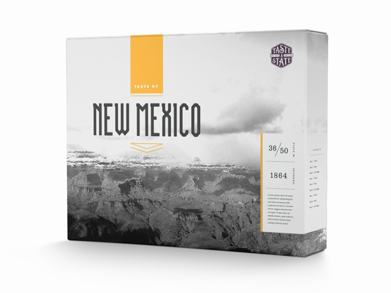 Taste a State Packaging Concept [2] identity packaging design typography new mexico branding