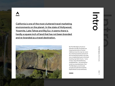 Intro Page Layout