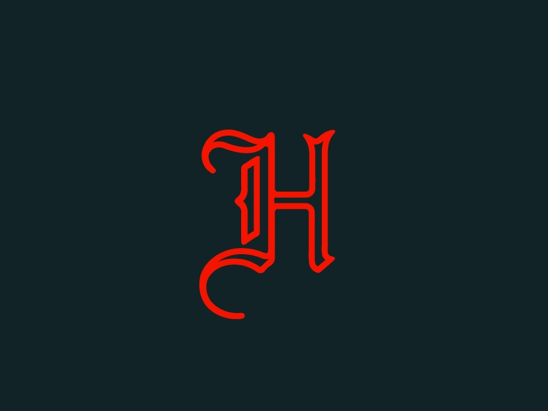 Blackletter H nevada h blackletter logo monogram typography minimal