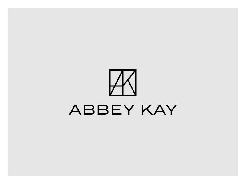 Abbey Kay Logo black and white geometric monogram minimal logo branding