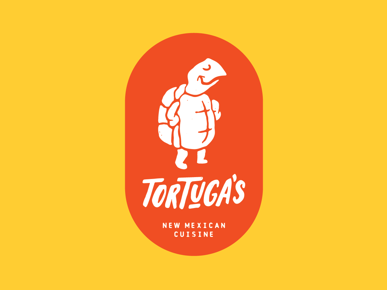 Tortugas food truck logo new mexico logo illustration typography handletter reno food truck branding nevada