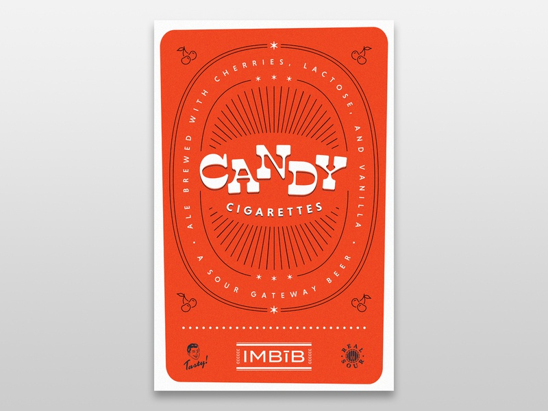 IMBīB Candy Cigarettes Poster