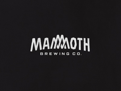 Mammoth Brewing Company Logo typography sierra brand beer outdoor mountain custom lettering branding brewery