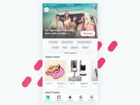 Key screen for a fashion discounter's iOS app