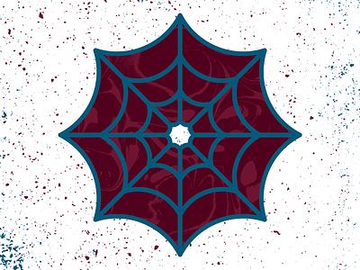 Spider Web Sticker rebound design illustration icon