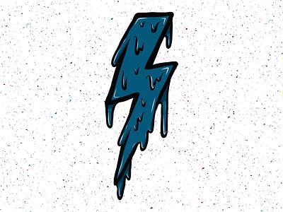 Drippy Bolt dripping drips drip bolt lightning illustration design