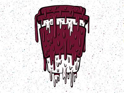 Drippy Coffee contrast dripping drips drip adobe draw togocup coffee illustration design