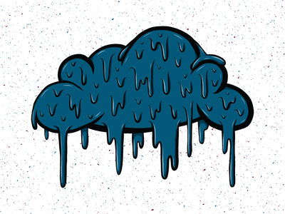 Drippy Cloud dripping drips drip adobe draw cloud illustration design
