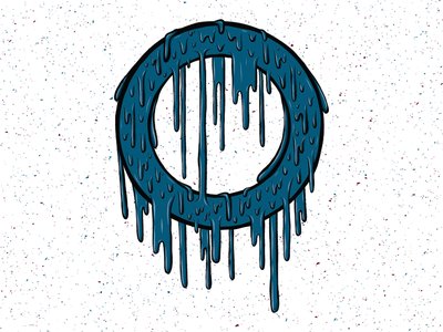 Drippy Ring dripping drips drip circle annulus ring vector adobe draw illustration design