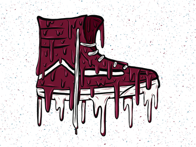 Drippy High Top dripping drips drip shoe vans high top adobe draw illustration design