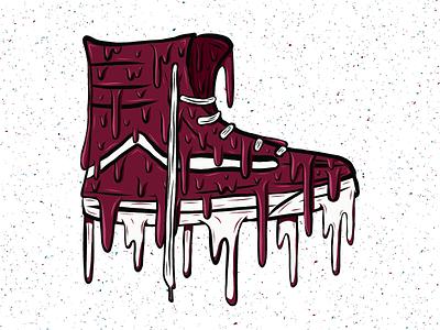 Drippy High Top dripping drips drip shoe vans high top adobe draw illustration design