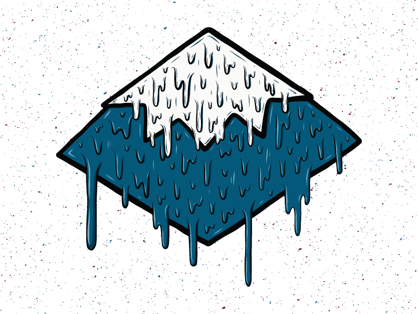 Drippy Mountain dripping drips drip snow mountain adobe draw illustration design