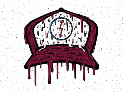 Drippy Trucker Hat logo dripping drips drip trucker hat hat adobe draw illustration design