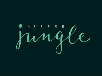 Calligraphy Logo for Jungle coffee. typelogo coffe cafe logotype branding brand jungle callygraphy lettering logo