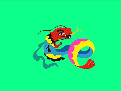 Character for Hokku restaurant vector logo japan asia cafe restaurant illustration character dragon brand branding 2dillustration