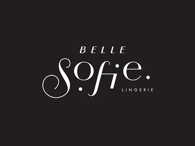 Belle Sofie lingerie typogaphy lingerie underwear brand type vector logotype custom branding lettering logo