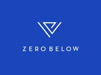 Zero identity branding logotype minimalistic tourism logo stripe triangle symbol