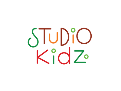 Studio Kidz lettering logotype school kids brand design typelogo logo
