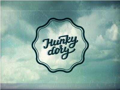 Hunky dory lettering type custom script