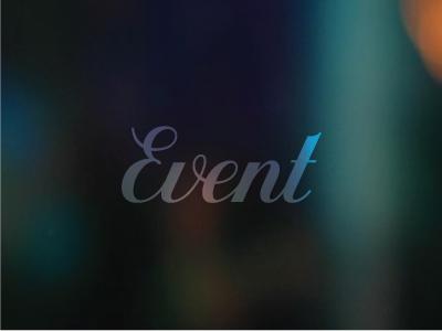 Event lettering script typography custom event