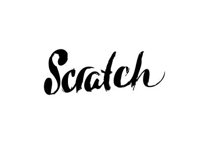 Scratch script custom lettering calligraphy type