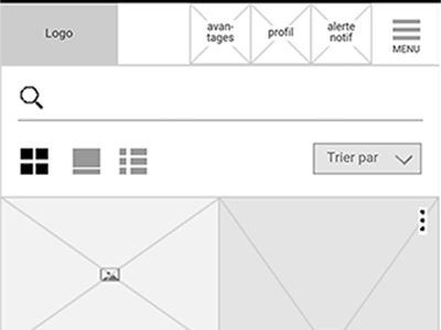 Wireframe mobile <HomePage>