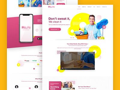 Company Profile - Lending Page Exploration company profile web deisgn service page design web ui ux