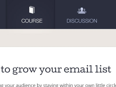 New member-only site course tabs membership