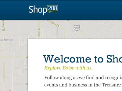 Shop208 slab-serif local map