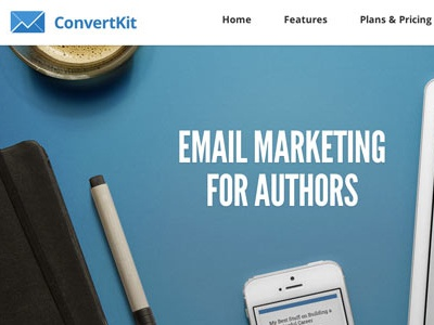 ConvertKit: Email marketing for authors email marketing authors logo design