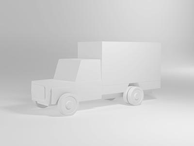 C4D transport truck practice illustration cinema4d design