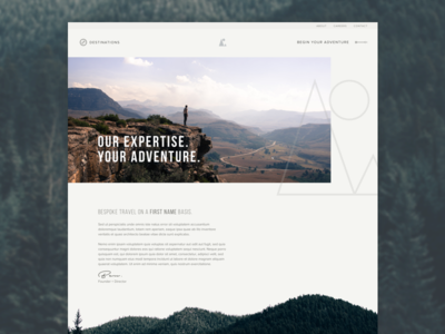 Far and Wild unused concept web design abstract adventure club studio