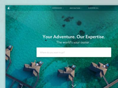 Far and Wild homepage landing page web design club studio