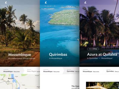 Far and Wild destination pages adventure web design club studio