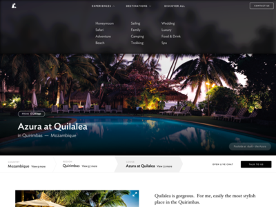 Far and Wild lodge page travel adventure web design club studio