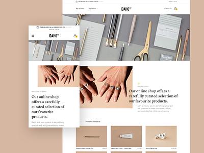 Idaho Online Store commerce clean minimal club studio web design