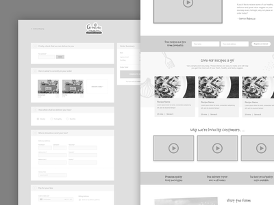 Groobarb's Wireframes commerce wireframes club studio web design