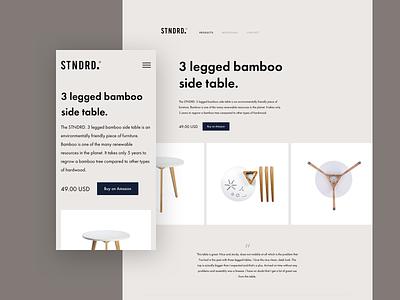 STNDRD. website concept white space clean club studio minimal web design