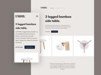STNDRD. website concept