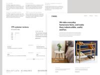 STNDRD. final website design