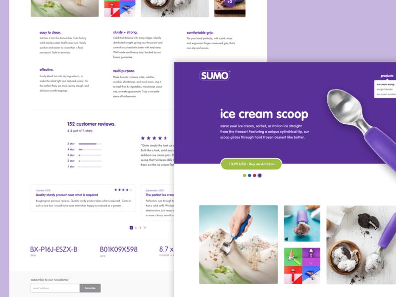 SUMO website design clean minimal web design