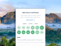'Best time to visit' UI component