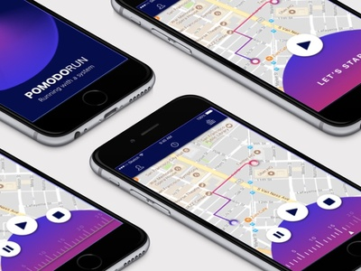 Pomodorun Timer lettering web flat ux branding app vector icon ui design logo illustration