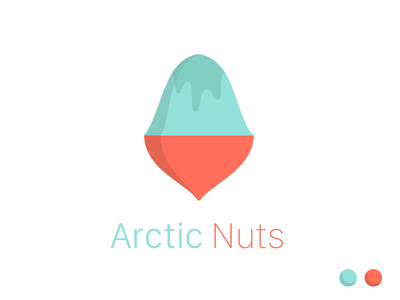 Arctic Nuts brand nuts frozen illustration logo