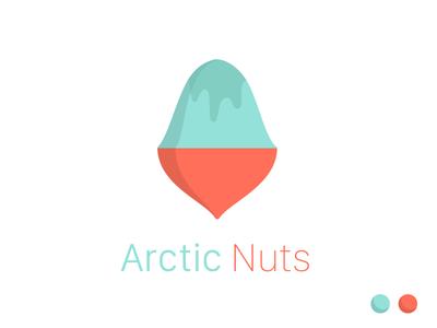 Arctic Nuts brand nuts frozen illustration logo