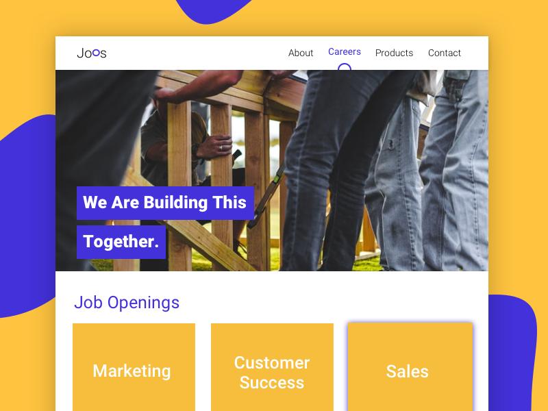 Joos Career webpage career design ui ux web branding logo