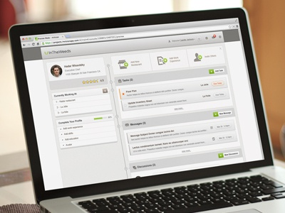 User Dashboard dashboard app restaurant ui ux inbox todo task status card rating timeline web app